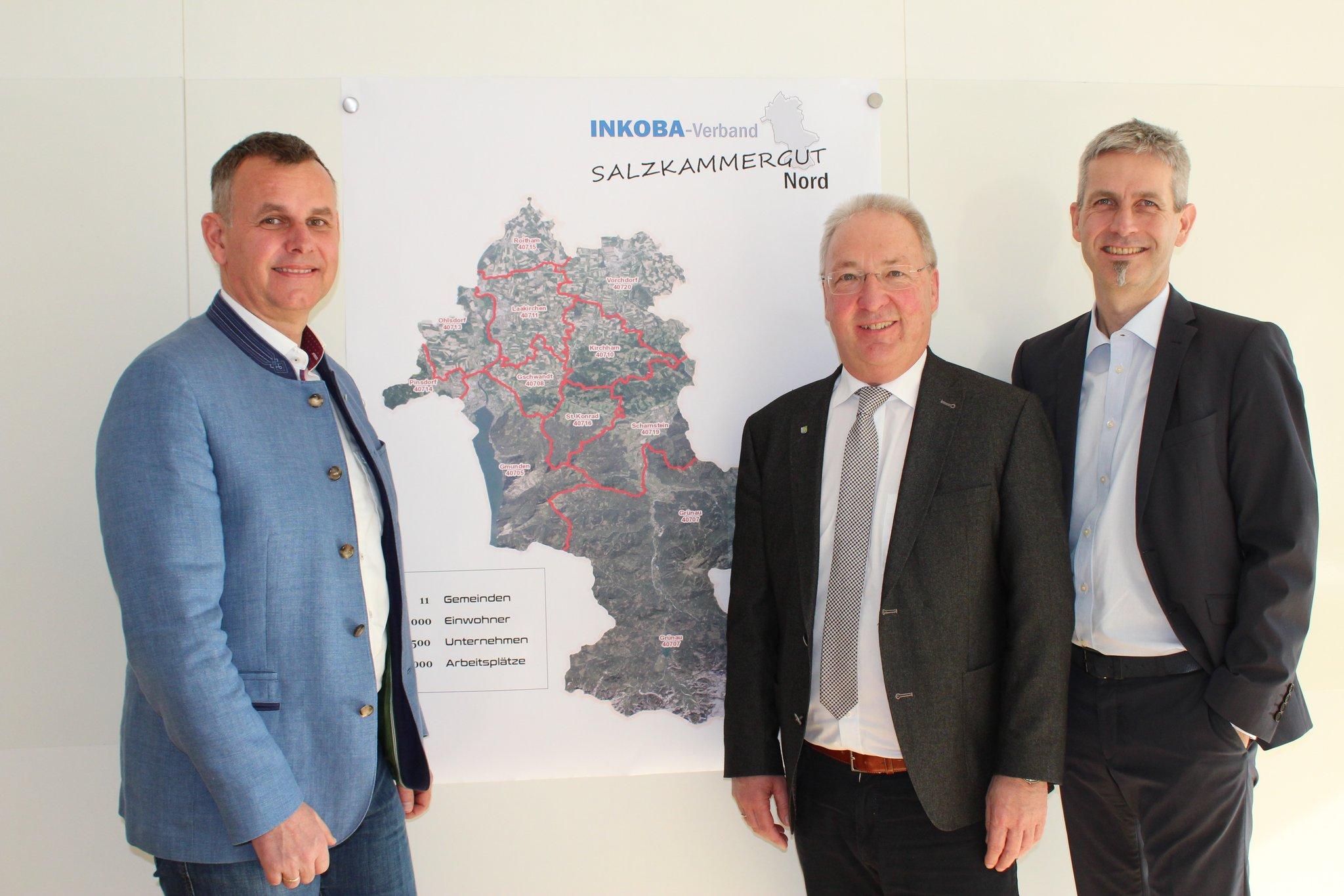 Inkoba Gruppenfoto vor Salzkammergut Plan